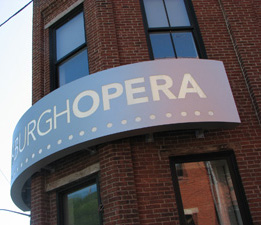 Pittsburgh Opera Sign
