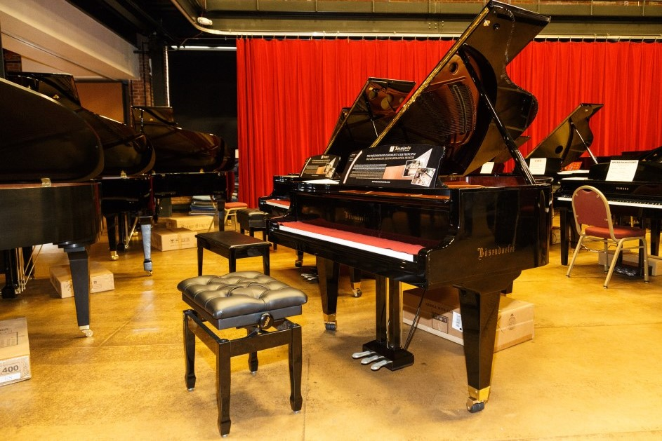 Photo of piano sale at Pittsburgh Opera headquarters
