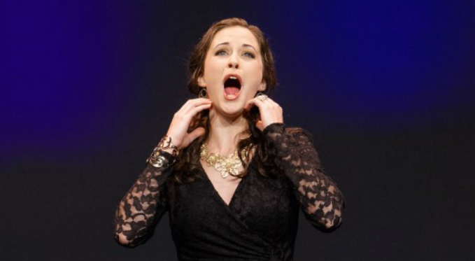 Shannon Jennings performs an aria at Pittsburgh Opera's annual Rising Stars event