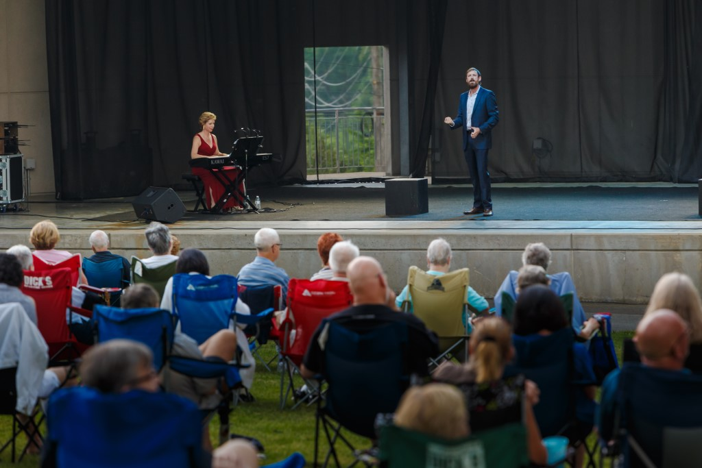 Photo from a Pittsburgh Opera performance at South Park Ampitheater