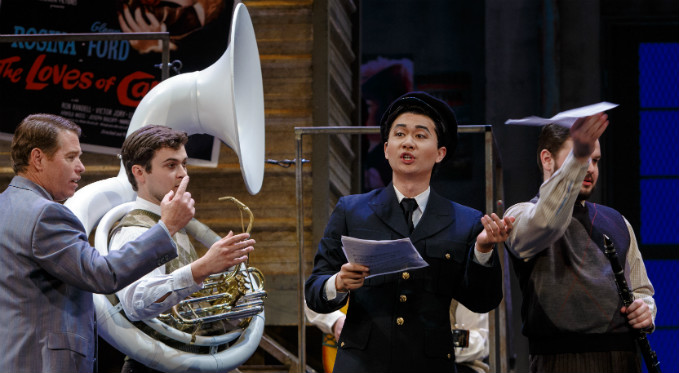 Brian Vu performs as Fiorello in The Barber of Seville