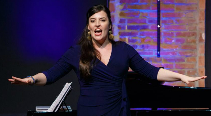 Leah de Gruyl performs an aria at Pittsburgh Opera's annual Rising Stars event