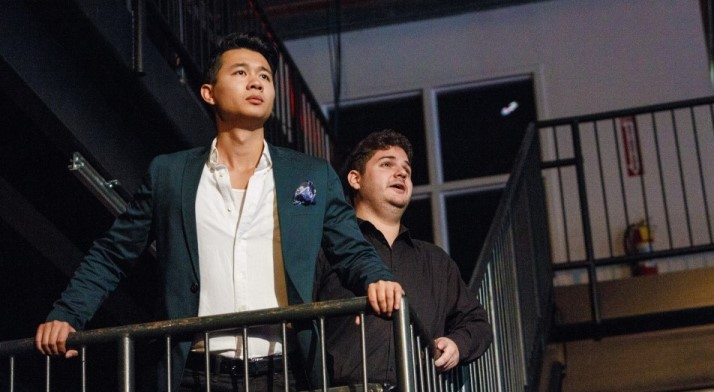 Brian Vu and Adam Bonanni sing a duet from The Pearl Fishers at a free Pittsburgh Opera Brown Bag concert in October, 2015