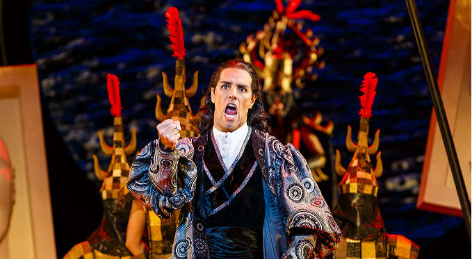 Prince Calaf is determined to succeed and melt Turandot's icy heart. Photo via David Bachman Photography.