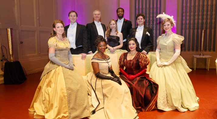 Pittsburgh Opera's Resident Artists on stage with General Director Christopher Hahn