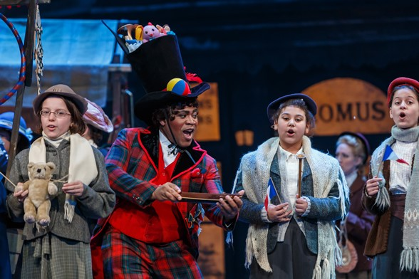 Terrence Chin-Loy performs as Parpignol in La bohème