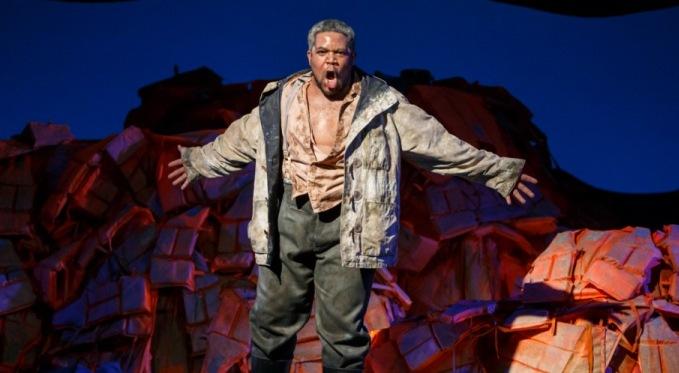 King Idomeneo of Crete (Terrence Chin-Loy). Photo by David Bachman for Pittsburgh Opera.