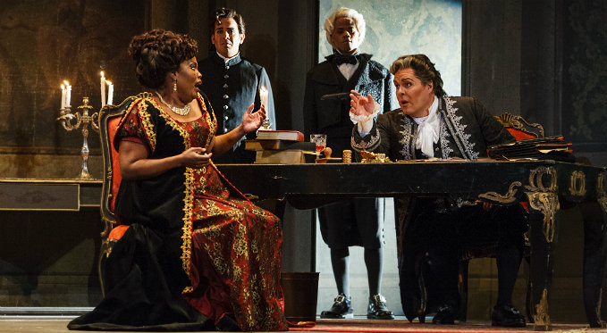Tosca bargains with Police Chief Scarpia