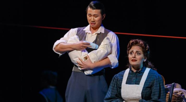 Brian Vu as John Brooke, with Laurel Semerdjian as Meg March, in Little Women, January 2016