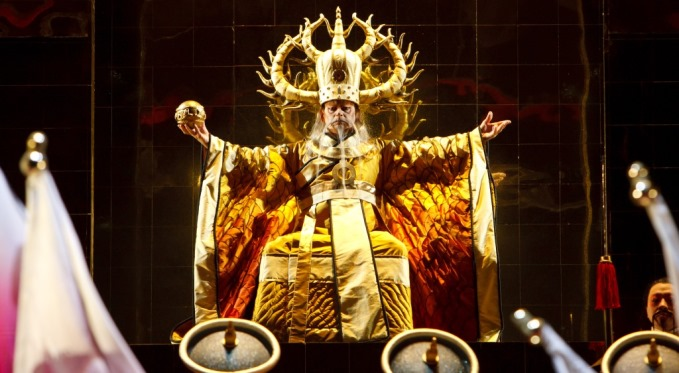 Having this man as his potential father-in-law doesn't deter Prince Calaf from pursuing Turandot. Photo via David Bachman Photography.
