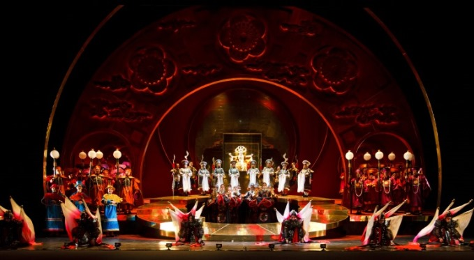 Turandot features lavish sets, opulent costumes, and stunning music and singing. Photo via David Bachman Photography.