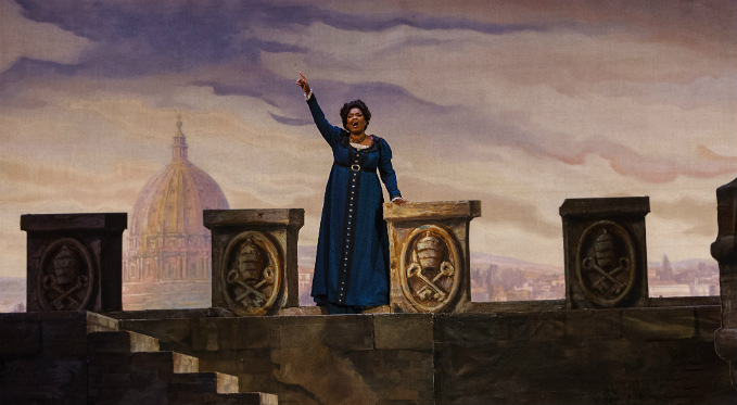 Tosca performs her swan song: O, Scarpia avanti Dio