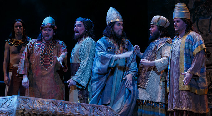 Eric Ferring performs the role of the Fourth Jew with the quintet of Jews in Salome