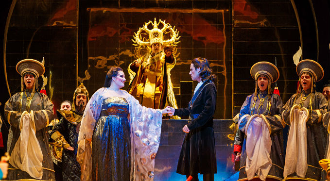Turandot features lavish sets, opulent costumes, and stunning music and singing. Photo via David Bachman Photography.