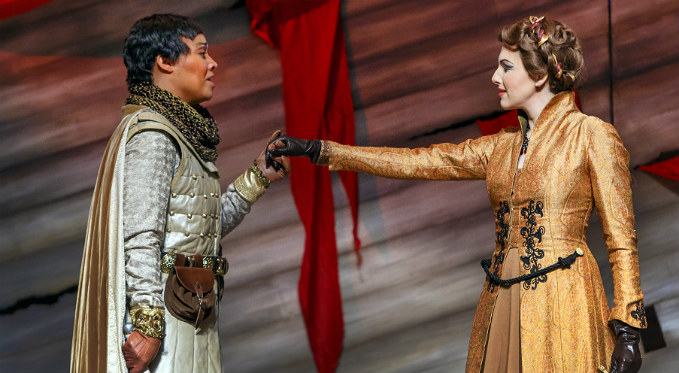 Brian Vu performs the role of Berardo in Richard the Lionheart to critical acclaim:
