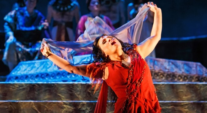 Salome (Patricia Racette) performing the Dance of the Seven Veils. Photo by David Bachman.
