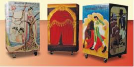 3 opera trunks created by Pittsburgh Opera