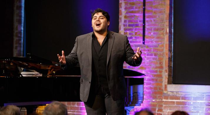 Angel Romero sings at 2019 Rising Stars concert
