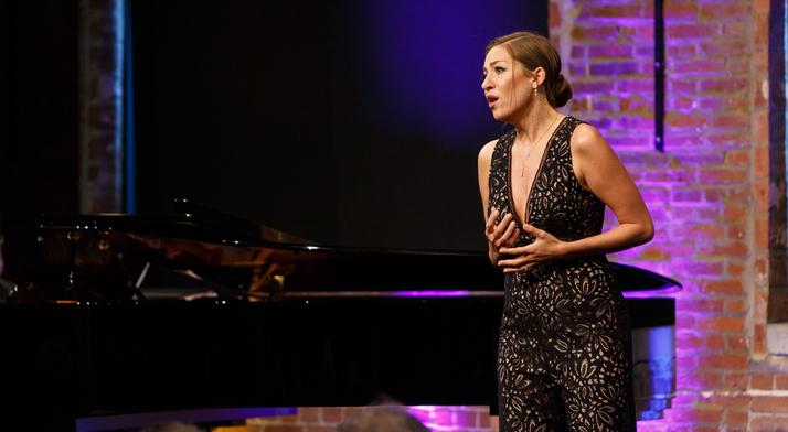 Antonia Botti-Lodovico sings at the 2019 Rising Stars concert