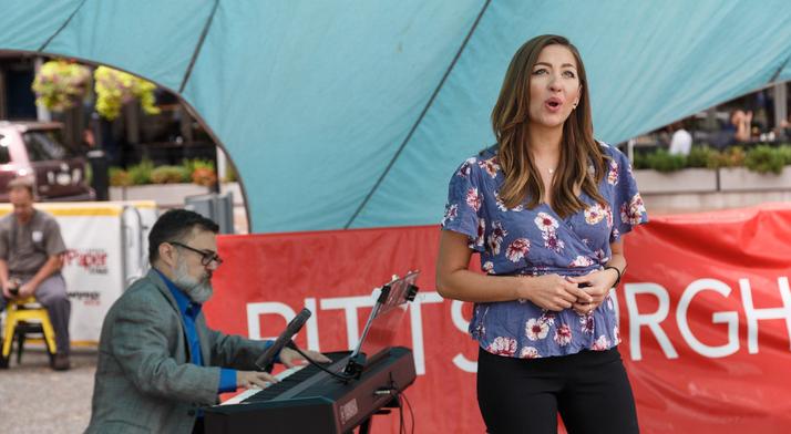 Antonia Botti-Lodovico sings at Market Square Farmers Market