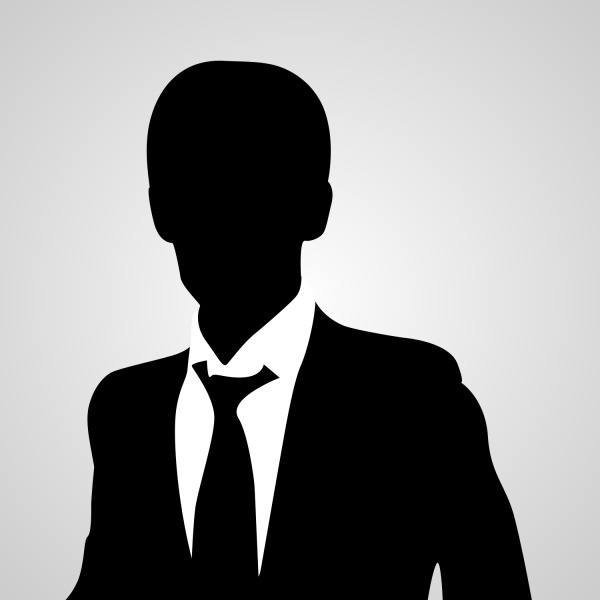male silhouette avatar image