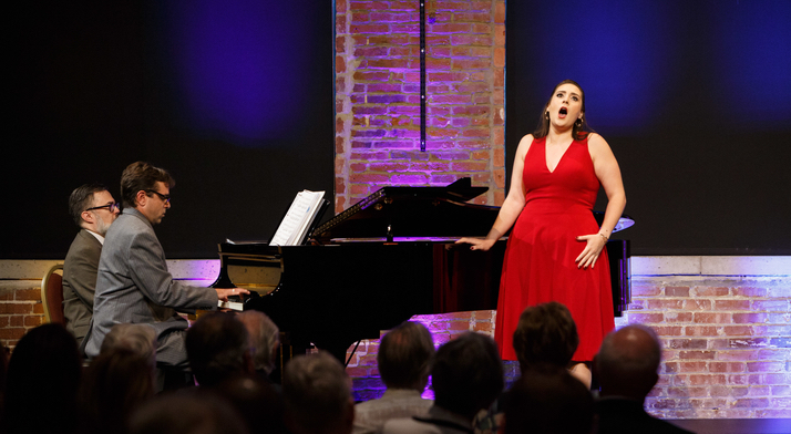 Caitlin Gotimer sings at the 2019 Rising Stars concert