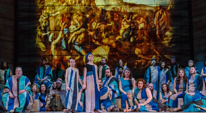 Pittsburgh Opera Chorus and Supernumeraries in the famous chorus