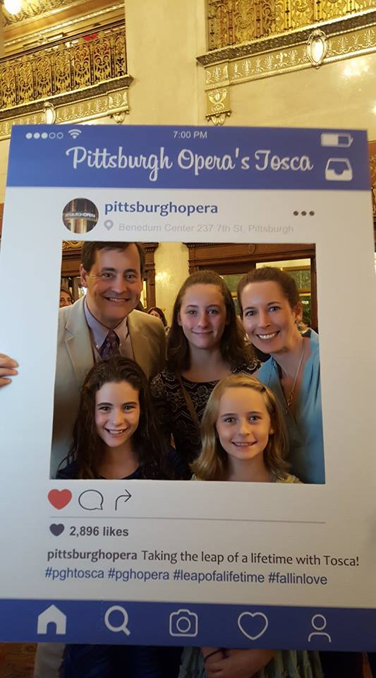 A family enjoys the opening night performance of Pittsburgh Opera's Tosca