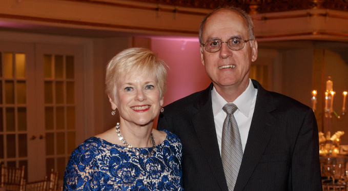 Board member Mary Anne Papale and husband Victor at the 2015 Diamond Horseshoe Ball.