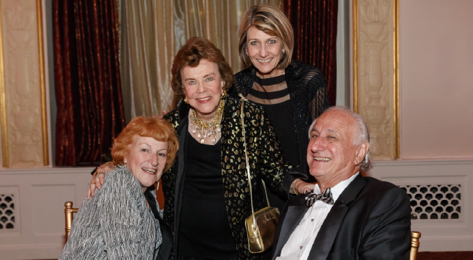 Board member Bob Sclabassi with Sheri and board member Mildred Miller Posvar at the 2015 Diamond Horseshoe Ball.