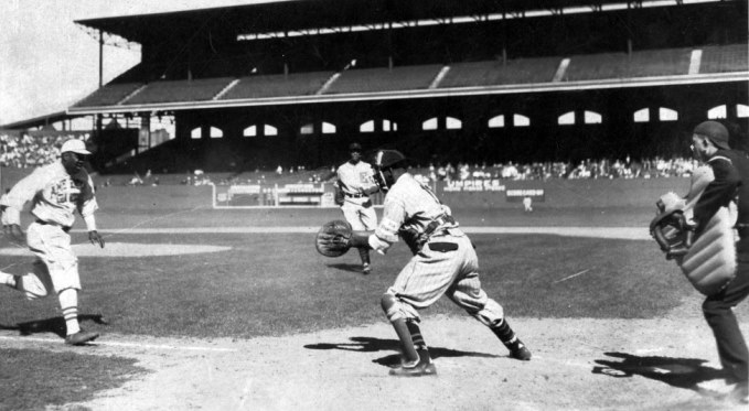 Josh Gibson wasn't just a fantastic hitter - he was a great defensive catcher too. Photo courtesy of The Josh Gibson Foundation.
