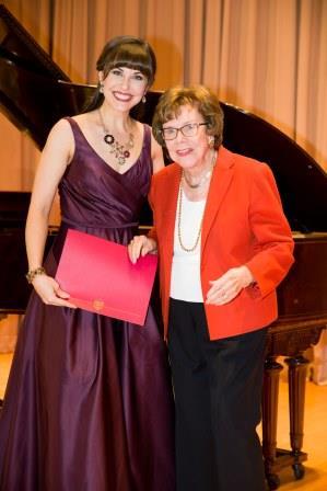 Shannon Jennings with Mildred Miller Posvar