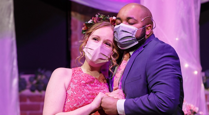 Madeline Ehlinger (with Yazid Gray)  in our Valentine's Day