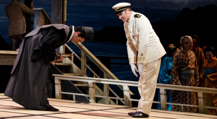 Tyler Zimmerman performs in the role of The Imperial Commissioner in Madama Butterfly