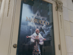 The Nabucco show poster at the Benedum Center
