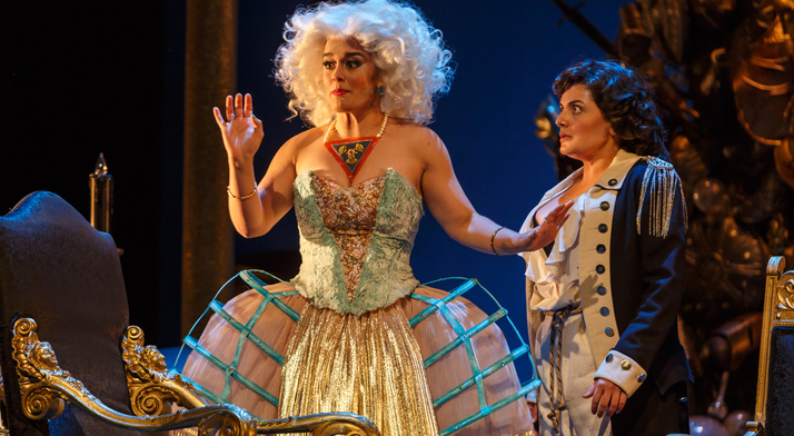 Morgana, Bradamante (Laurel Semerdjian, right). From Pittsburgh Post-Gazette's review: