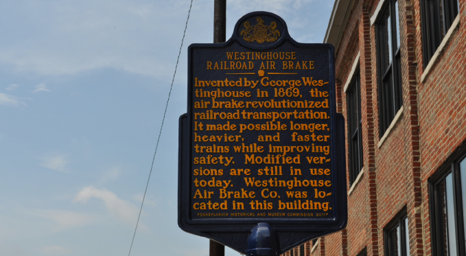 Our Headquarters is the original home of the George Westinghouse Air Brake Factory. The air brake revolutionized railroad transportation.