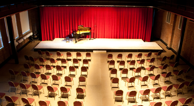 The George R. White Opera Studio is the home of many of our community events, including Brown Bag concerts.