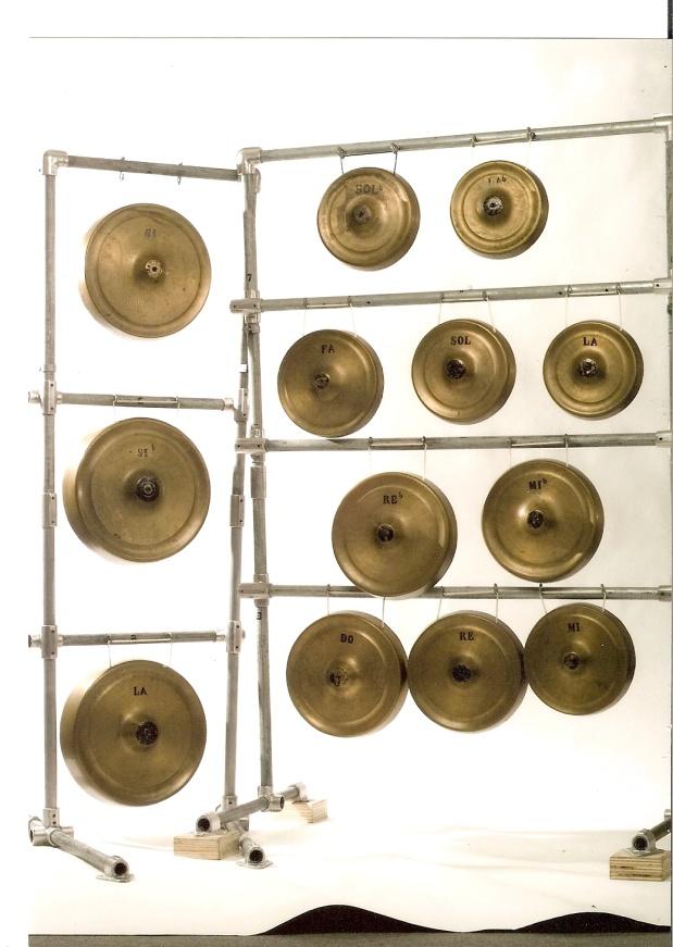 Photo of Puccini's original 1926 Turandot gongs
