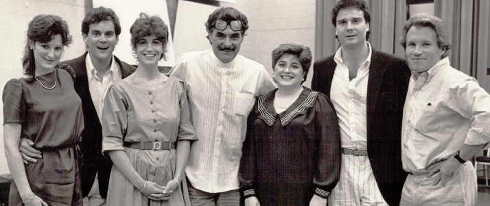 The first class of Pittsburgh Opera Resident Artists, with then-director Tito Capobianco