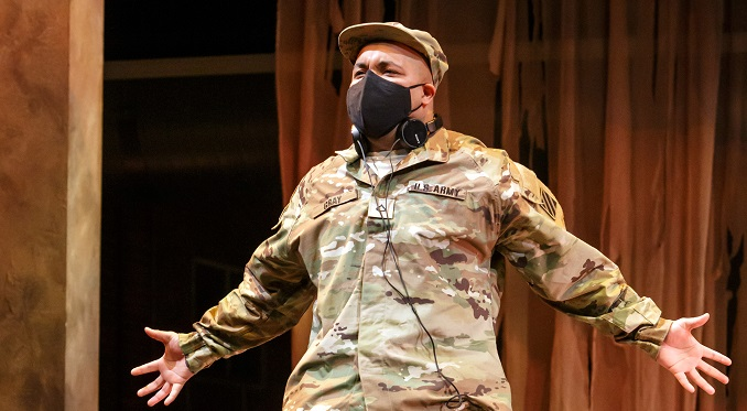 Photo from Pittsburgh Opera's production of Soldier Songs