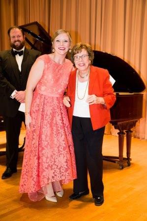 Corrie Stallings with Mildred Miller Posvar