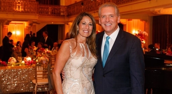 Event Chair Roseann Wholey and Mike Clark at the 2016 Diamond Horseshoe Ball.
