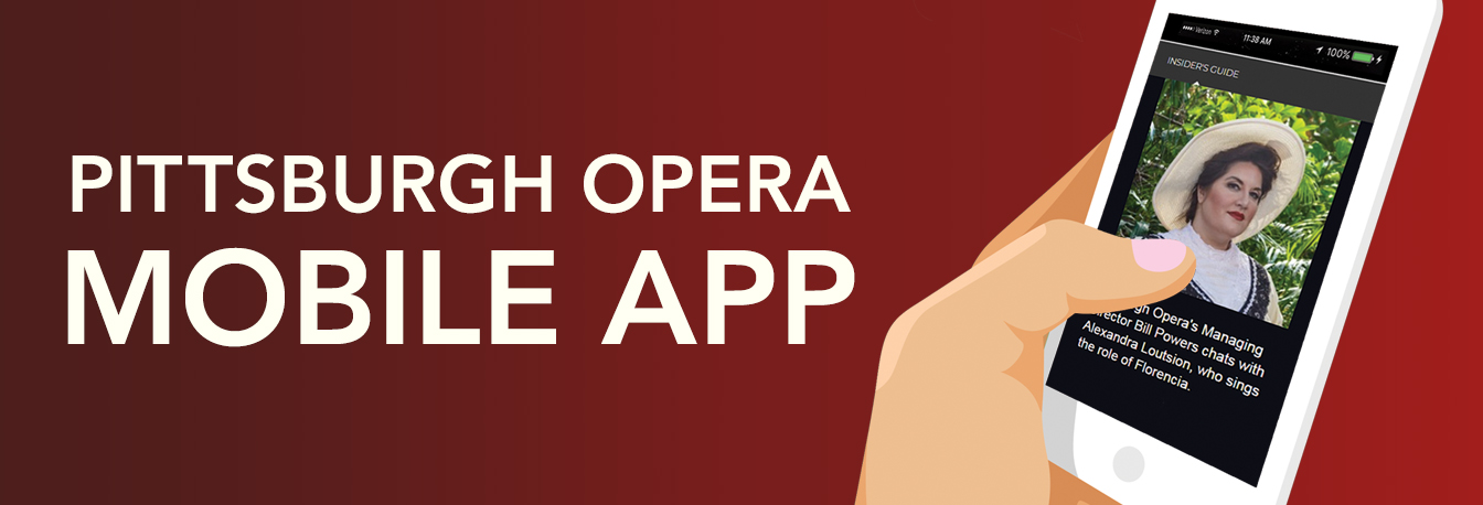 Promotional image for Pittsburgh Opera's mobile app