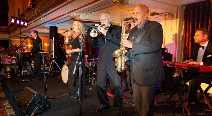 The Finesse Band entertains the crowd at the 2016 Diamond Horseshoe Ball.